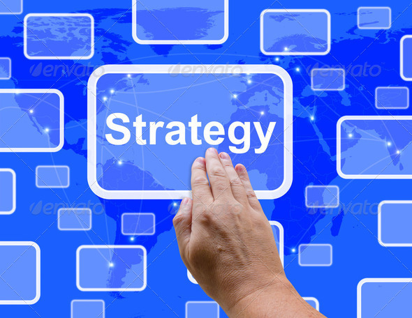 Strategy Button Showing Planning And Vision To Achieve Goals - Stock Photo - Images