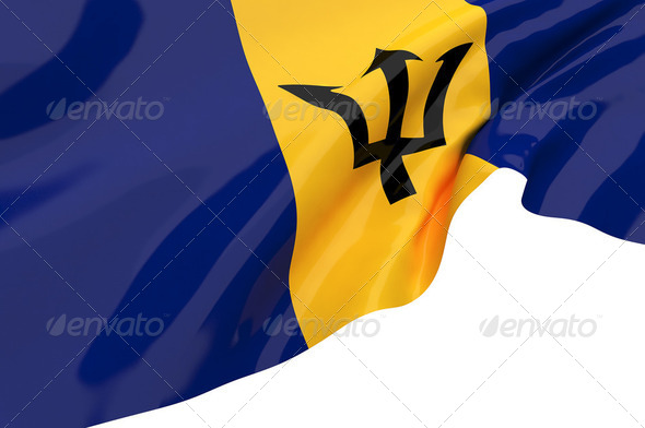 Vector Flags of Barbados - Stock Photo - Images