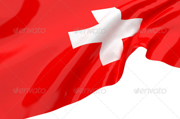 Vector Flags of Switzerland - Stock Photo - Images