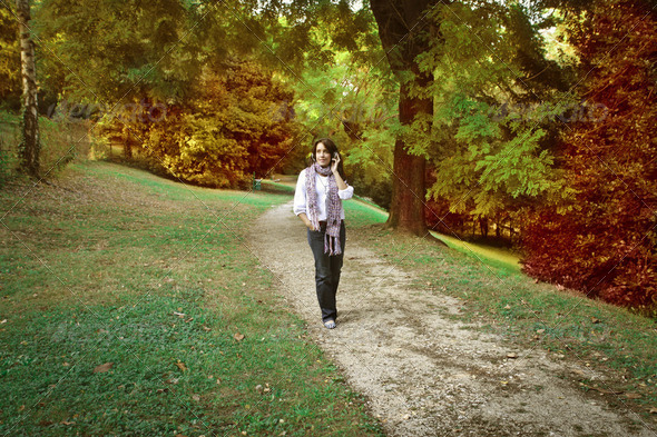Walk in the park - Stock Photo - Images