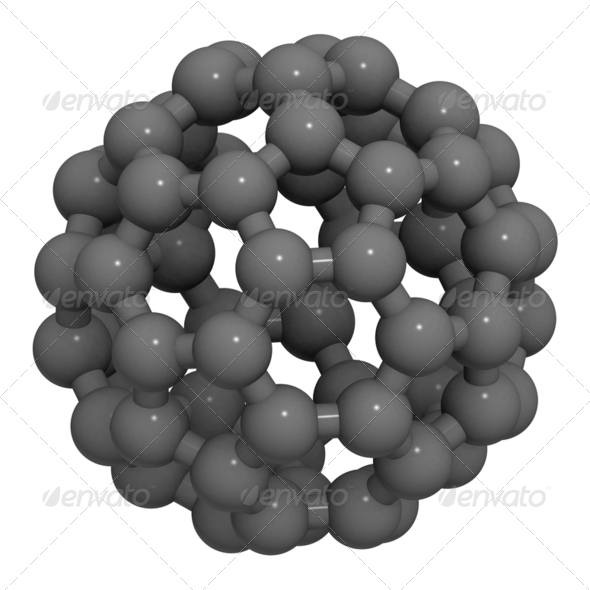 buckminsterfullerene (buckyball, C60) - Stock Photo - Images