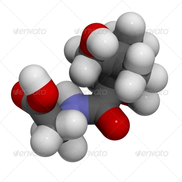 Vitamin B5 (pantothenic acid) molecule - Stock Photo - Images