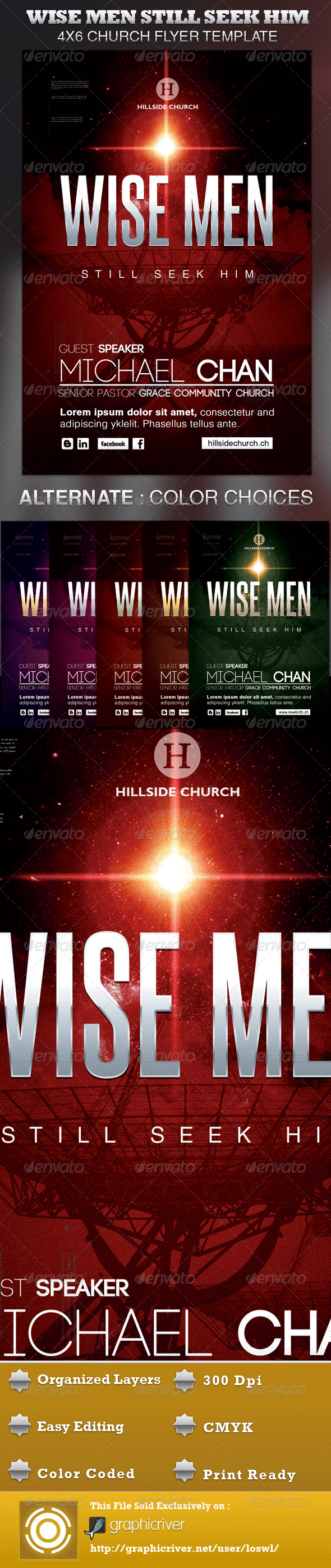 GraphicRiver Wise Men Still Seek Him Church Flyer Template 720591