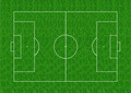 Soccer field layout on green grass background - PhotoDune Item for Sale