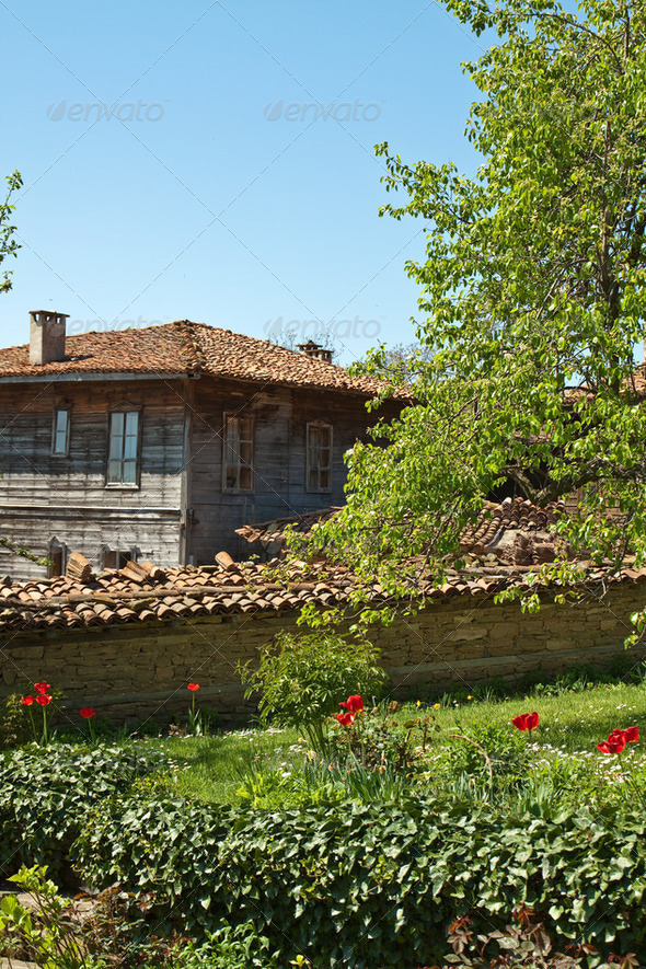 Bulgarian revival house - Stock Photo - Images