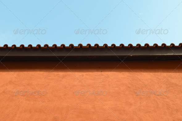 italian style wall in vintage color - Stock Photo - Images