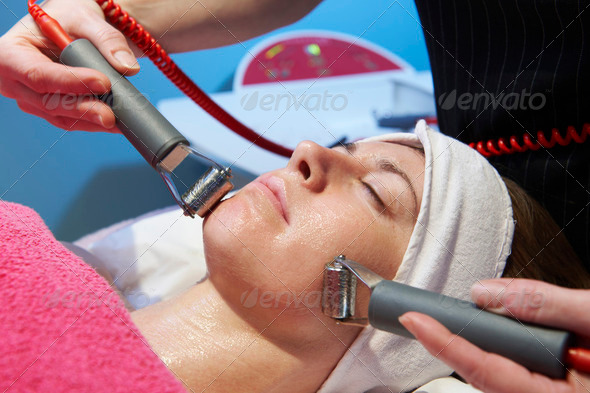 facial treatment - Stock Photo - Images