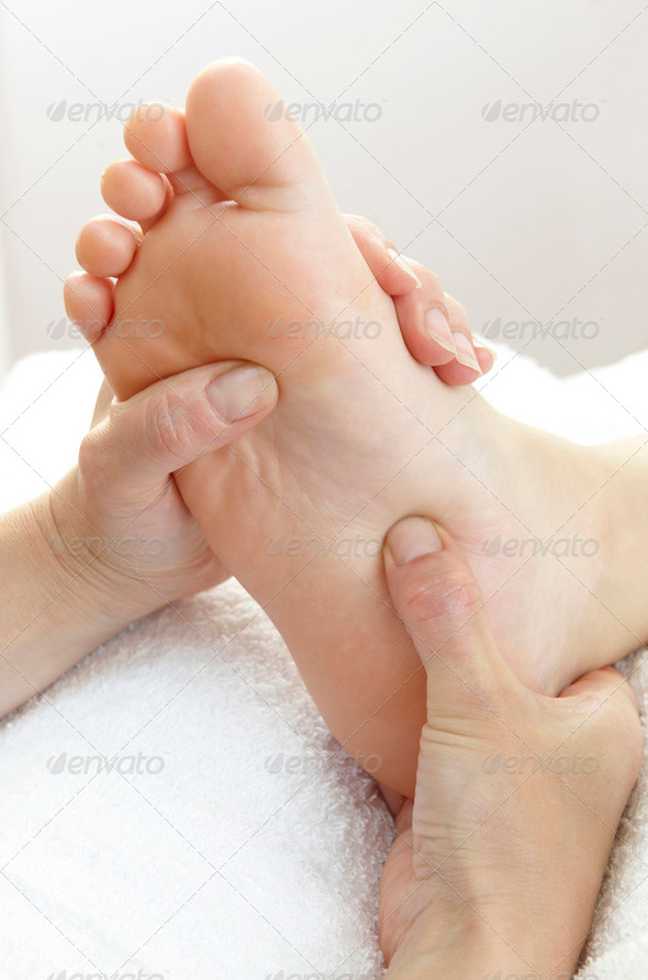 foot massage - Stock Photo - Images