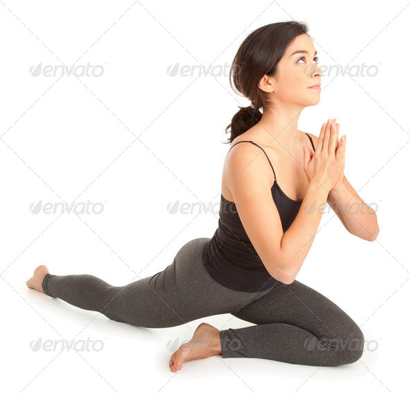 Young Woman Exercising - Stock Photo - Images