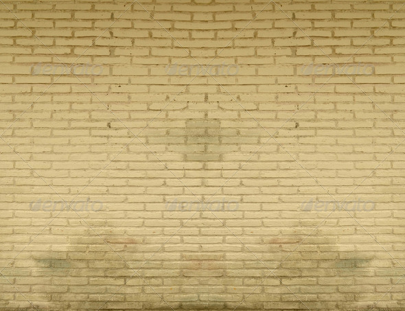 a brown brick wall - Stock Photo - Images