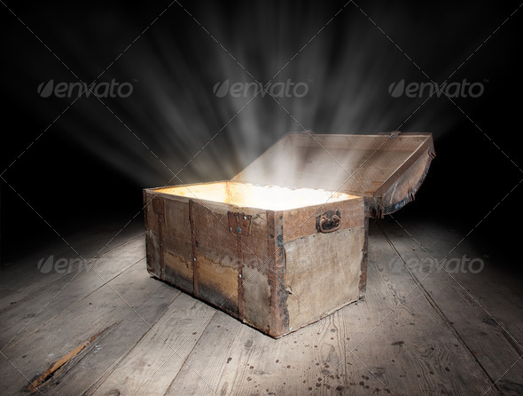 Chest of treasure - Stock Photo - Images