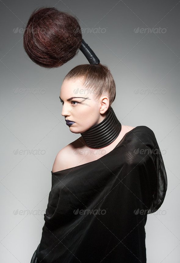 avantgarde hair - Stock Photo - Images