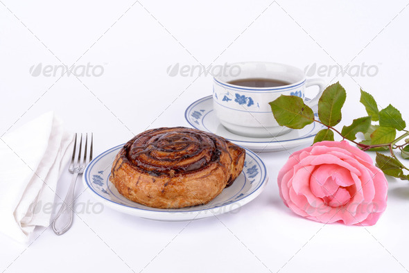 Cake and tea. - Stock Photo - Images