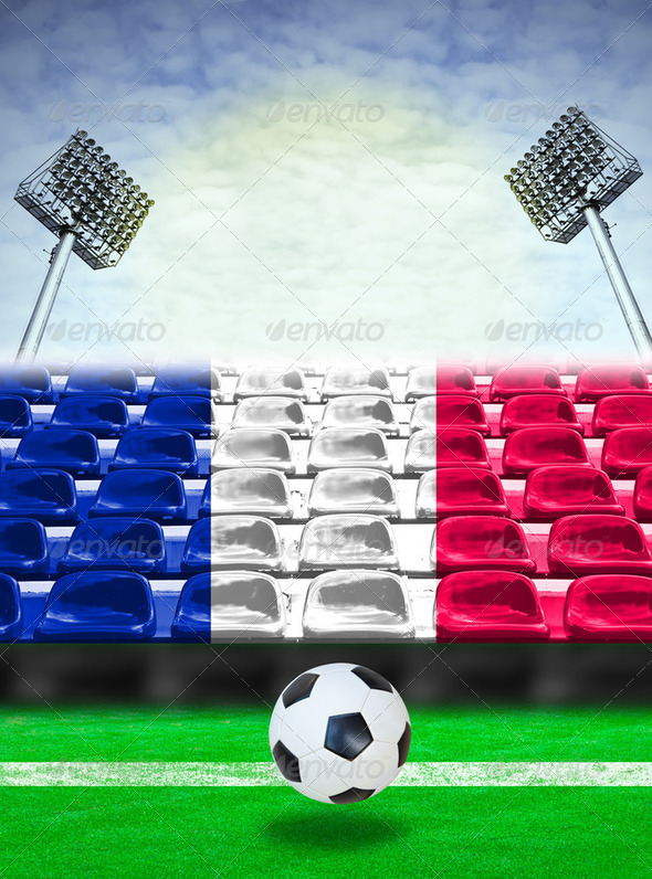 France Flag Pattern on Seat - Stock Photo - Images