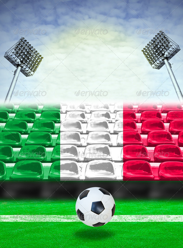 Italy Flag Pattern on Seat - Stock Photo - Images