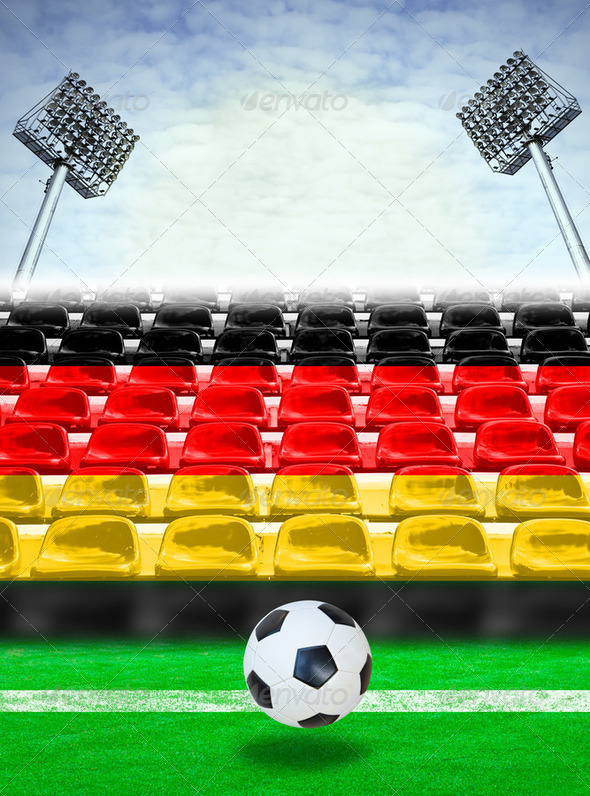 Germany Flag Pattern on Seat - Stock Photo - Images