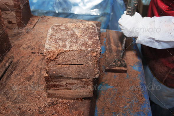 big blocks of chocolate - Stock Photo - Images