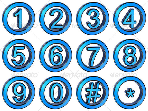 Numbers set - Stock Photo - Images