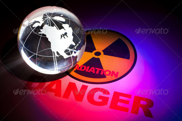 Radiation hazard sign - Stock Photo - Images