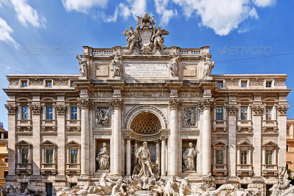 The Trevi Fountain in Rome - Stock Photo - Images