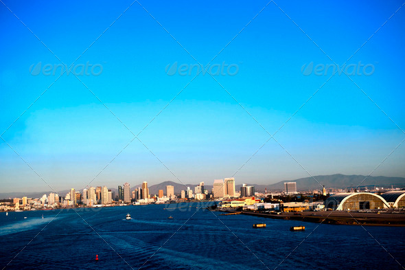 San Diego Skyline - Stock Photo - Images