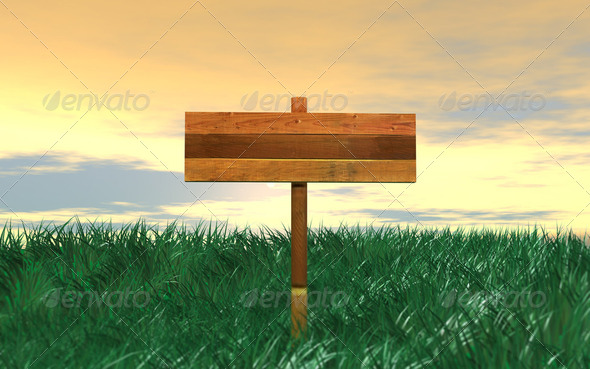 Wood Blank Sign - Stock Photo - Images