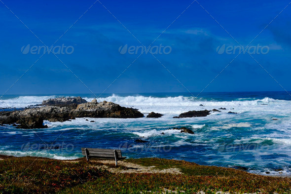 Ocean at Pacific Grove - Stock Photo - Images