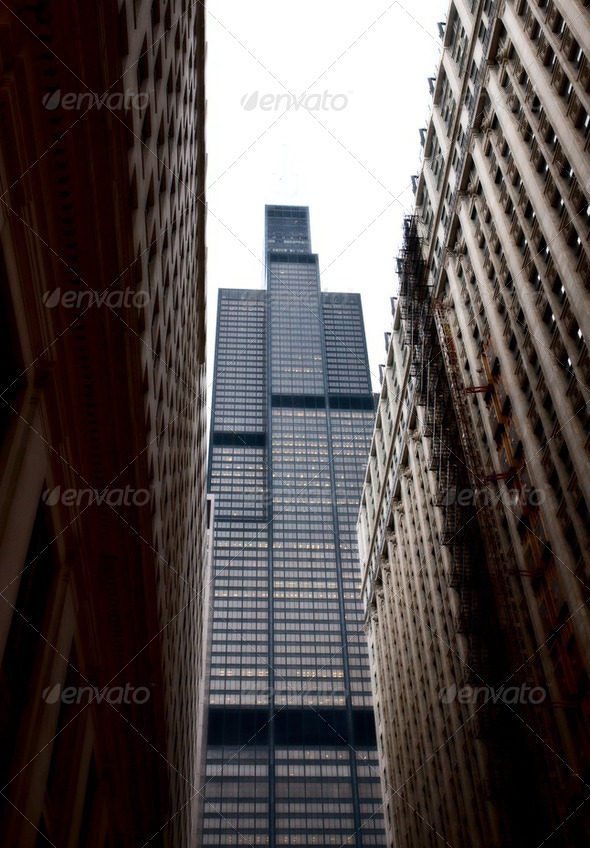 Chicago Downtown City - Stock Photo - Images