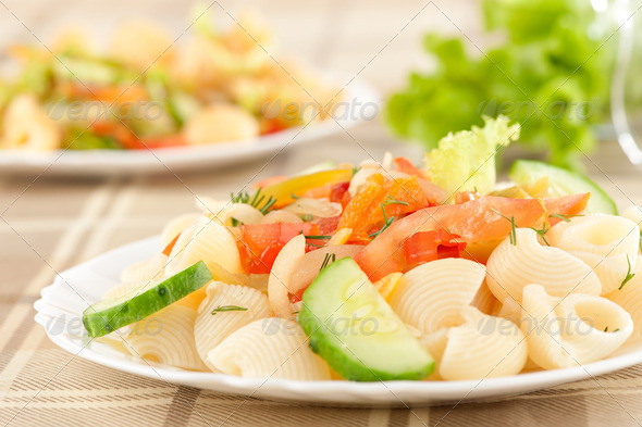 Pasta with vegetables - Stock Photo - Images