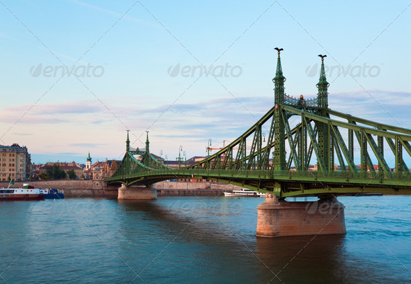 Budapest evening view - Stock Photo - Images