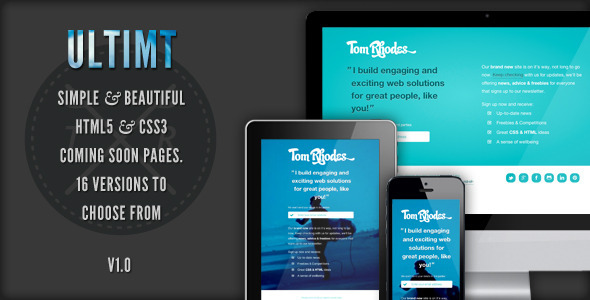 ThemeForest Ultimt Responsive Coming Soon Page 2861280