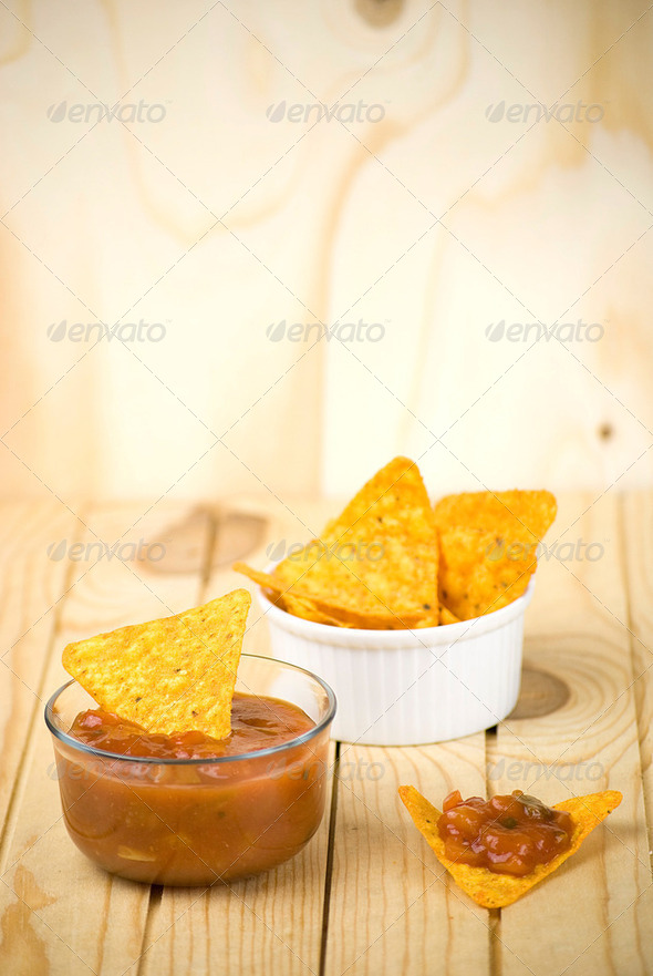 tortilla chips - Stock Photo - Images