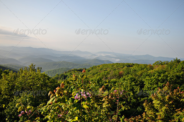 blue ridge parkway hills - Stock Photo - Images