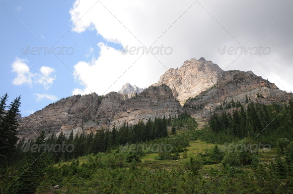 Canadian Rockies hill - Stock Photo - Images