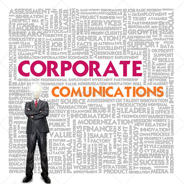 Business word cloud for business and finance concept, Communicat - Stock Photo - Images