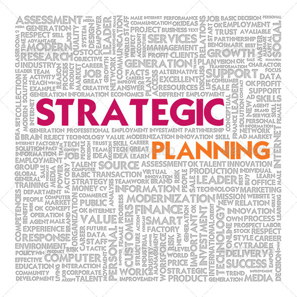 Business word cloud for business concept, Strategic planning - Stock Photo - Images