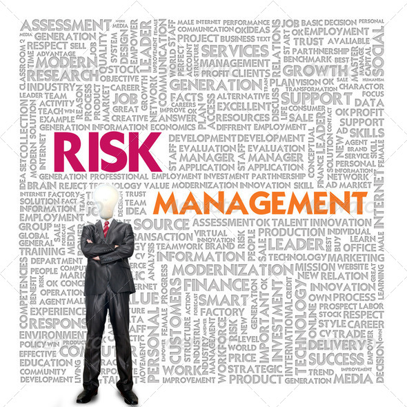 Business word cloud for business and finance concept, Risk Manag - Stock Photo - Images