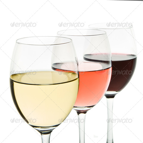 three wine glasses - Stock Photo - Images