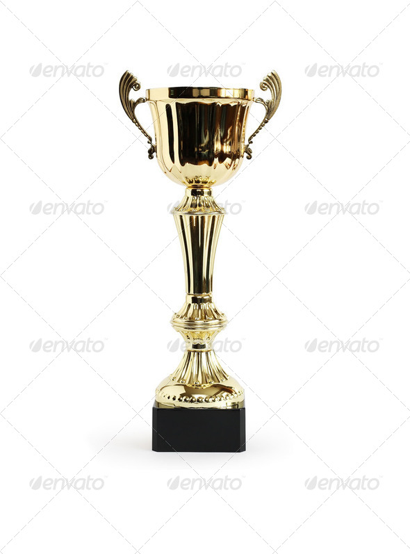 Award Cup On White - Stock Photo - Images