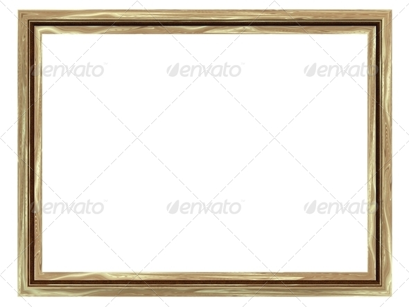 Rectangular Frame For The Paintings And Photographs, Isolated On White Background - Stock Photo - Images