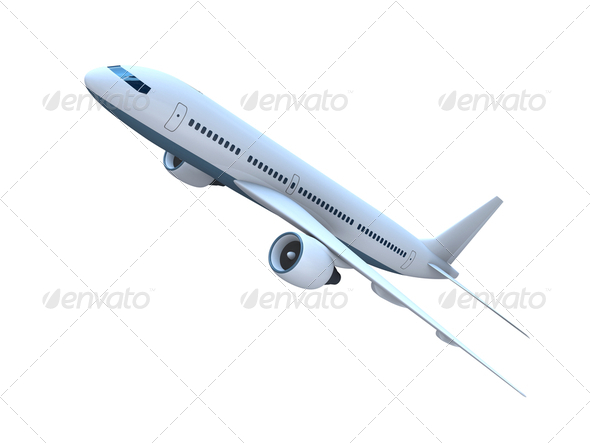 Jet airplane - Stock Photo - Images