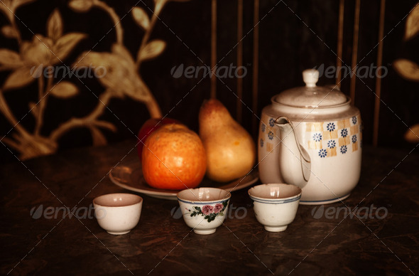 still life afternoon tea - Stock Photo - Images