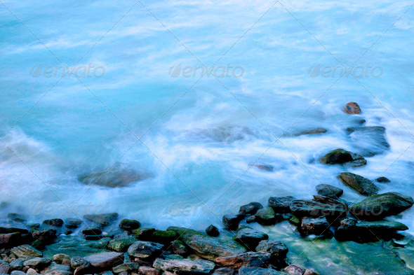 ocean waves shoreline - Stock Photo - Images