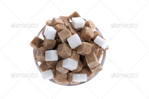 brown sugar. unhealthy diets with coal hydra - Stock Photo - Images