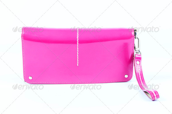 Luxury women bag isolated over white - Stock Photo - Images