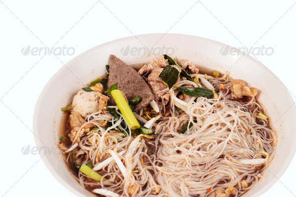 Close up Thai noodle - Stock Photo - Images