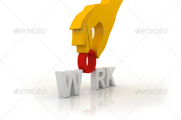 Work and hand - Stock Photo - Images