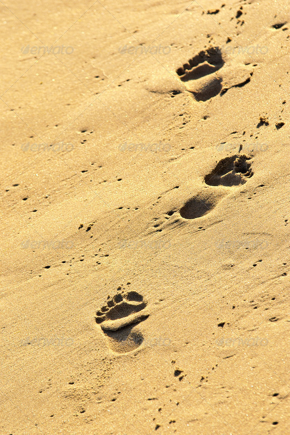 Sand Prints - Stock Photo - Images