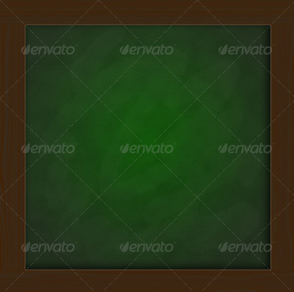 green blackboard  in classroom - Stock Photo - Images