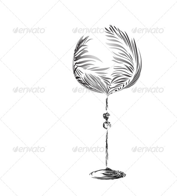 Stylized wineglass - Stock Photo - Images